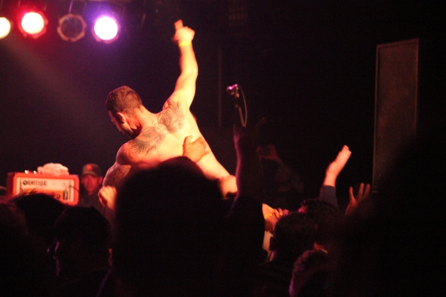 Crowd surfer at Hot Water Music Live at Masquerade Atlanta